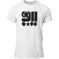 911 Headset & Badges Silhouettes Dispatcher T Shirt - Pooky Noodles
