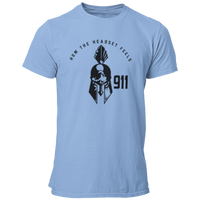 911 How The Headset Feels Spartan Helmet Dispatcher T Shirt - Pooky Noodles