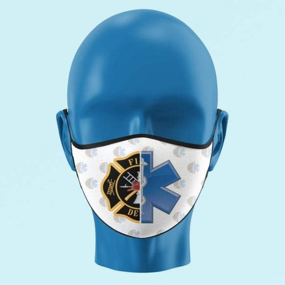 Fire Medic Star of Life and Maltese Cross Mask