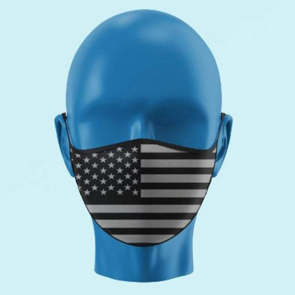 Tactical Black & Grey American Flag Mask