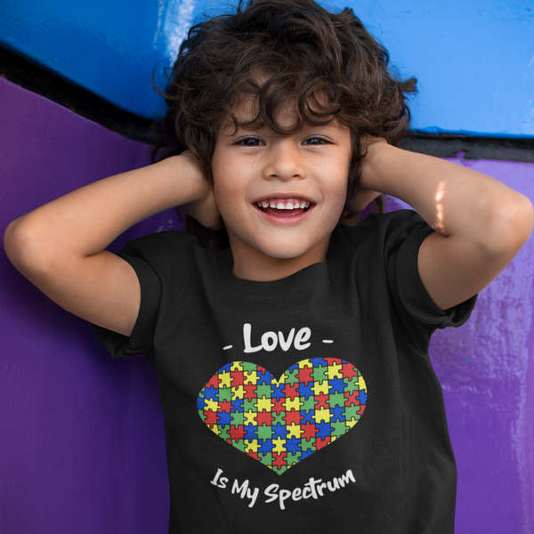 Love Is My Spectrum Autism Awareness Youth T Shirt - Pooky Noodles