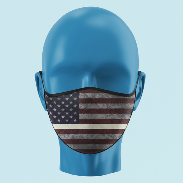 EMS Thin White Line Color American Flag Mask - Pooky Noodles
