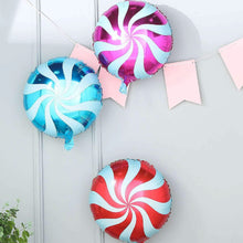 "Load image into Gallery viewer, [Free Shipping] 18"" Swirl Candy Lollipop Balloon (2pcs)"