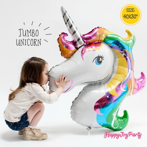 [Free Shipping] Jumbo Unicorn Mylar Balloon