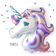 Load image into Gallery viewer, [Free Shipping] Jumbo Unicorn Mylar Balloon