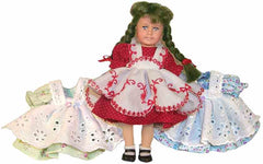 "6"" Eyelet Pinafore Doll Dress"