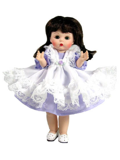 "7"" Pinafore Doll Dress"