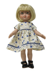 "10"" Blue Blossoms Doll Dress"