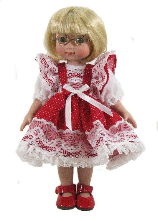 "10"" Lots of Dots Doll Dress"