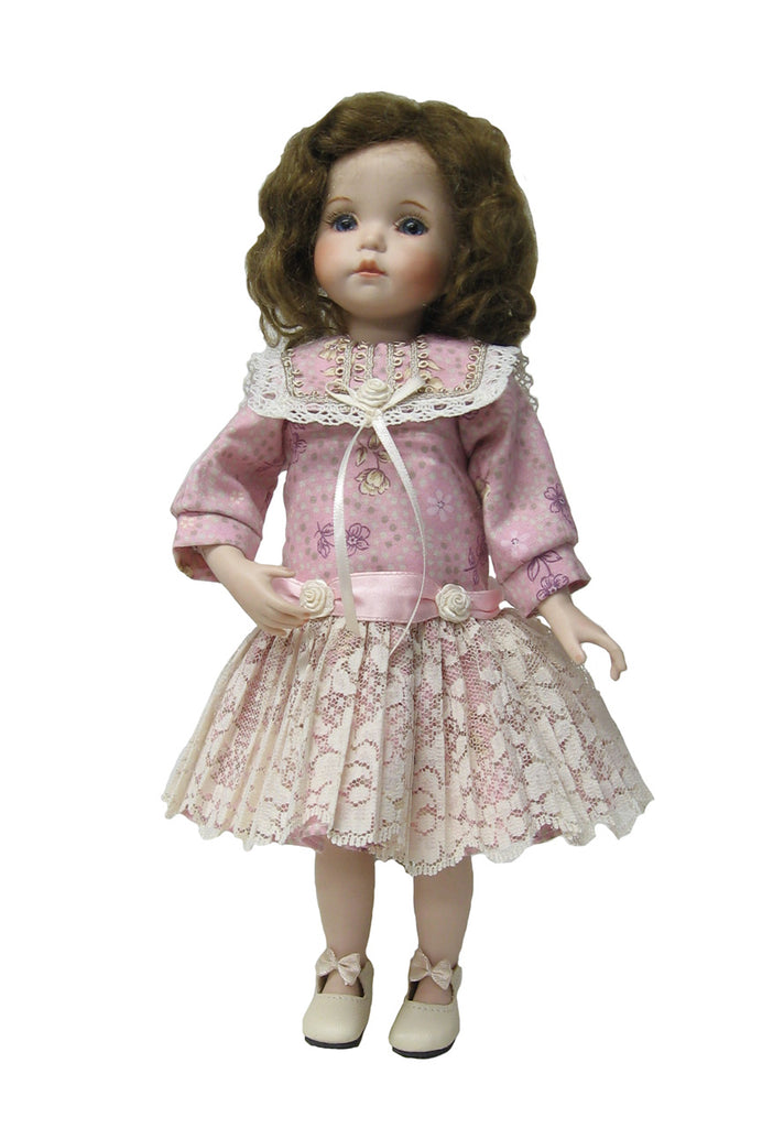 "Rose Dropped Waist Dress for 10"" Diana Effner Dolls"