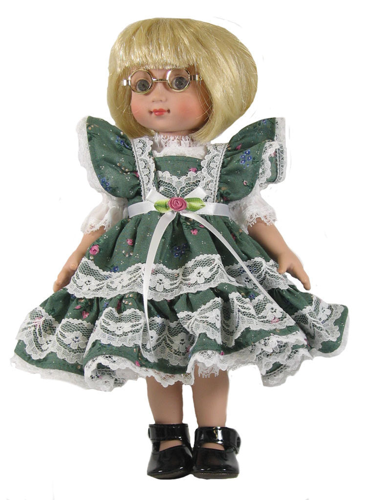 "Calico Dress for 10"" Dolls"