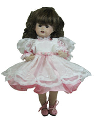 "10"" Delicate Pinafore Doll Dress"