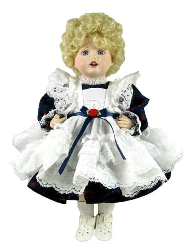 "10"" Country Pinafore Doll Dress"