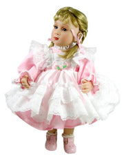 "10"" Pastel Pinafore Doll Dress"