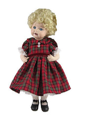 "10"" Christmas Plaid Doll Dress"