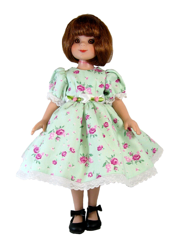 "Mint Floral Dress for 14"" Betsy McCall Doll"