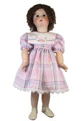 "24"" Vintage Plaid Doll Dress"