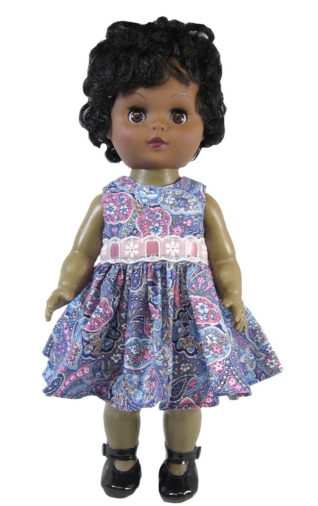 Blue Paisley Summer Dress for Goodfellow Dolls