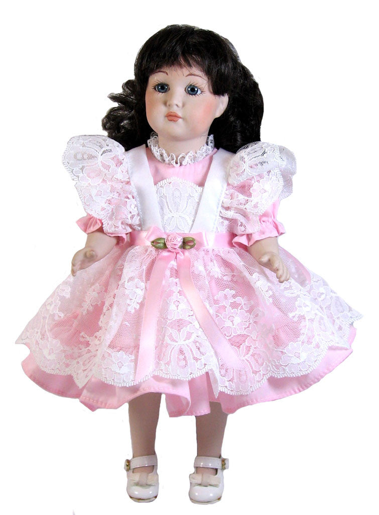 "Lace Pinafore Dress for 12"" Dolls"