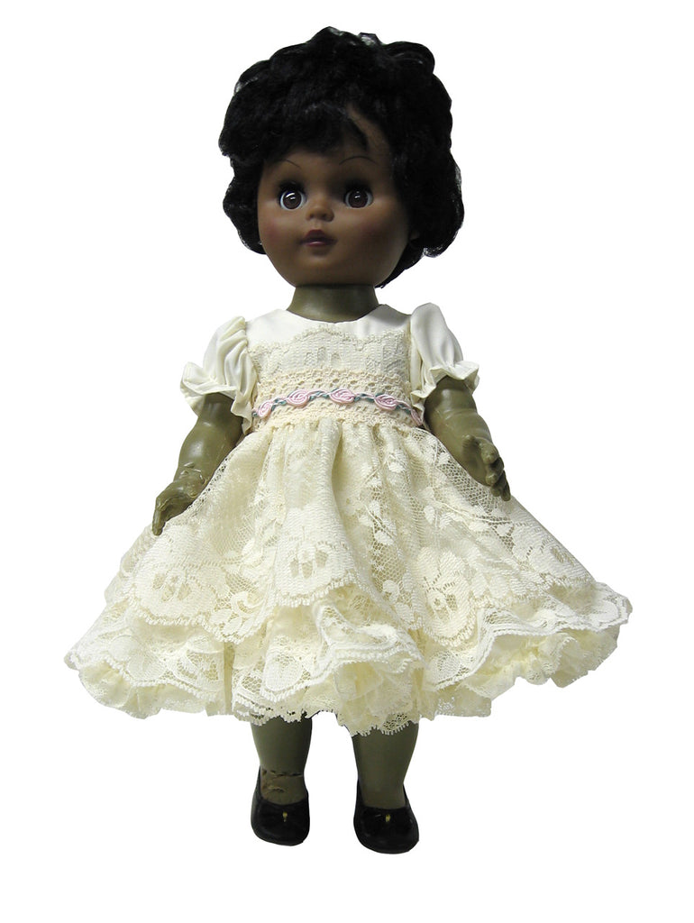 "12"" Dainty Lace Doll Dress"