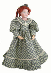 "12"" Navy French Fashion Doll Dress"