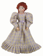 "12"" Plaid Fashion Doll Dress"