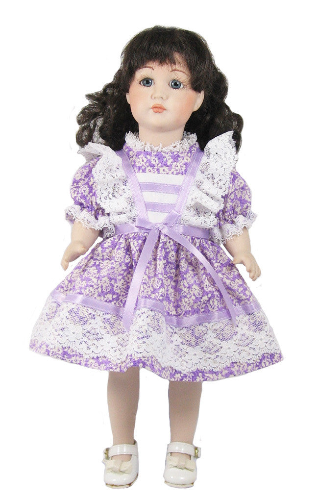 "12"" Lavender N' Lace Doll Dress"