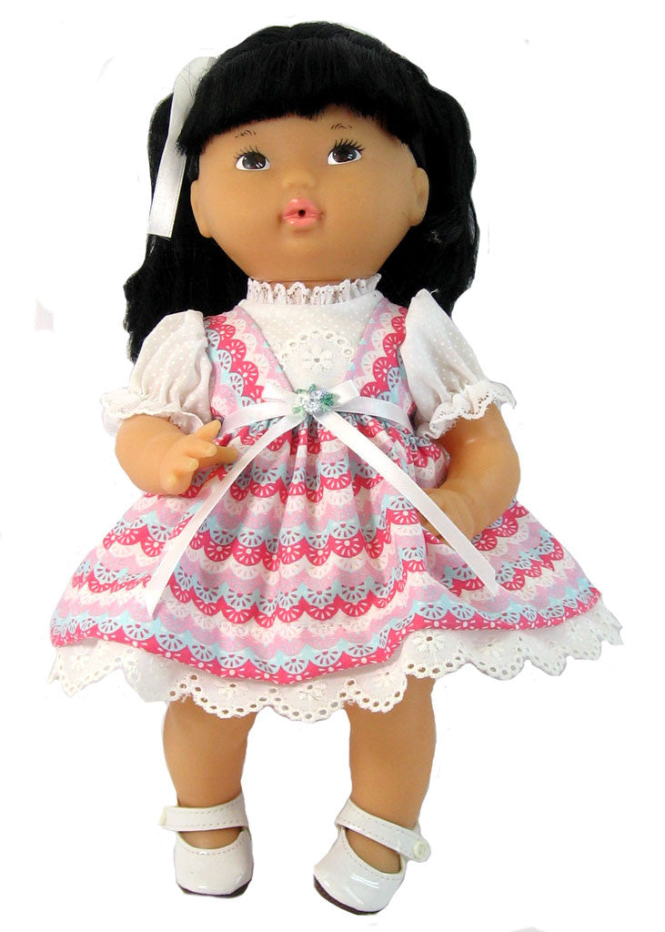 "Pink Confection Dress  for 12"" Doll"