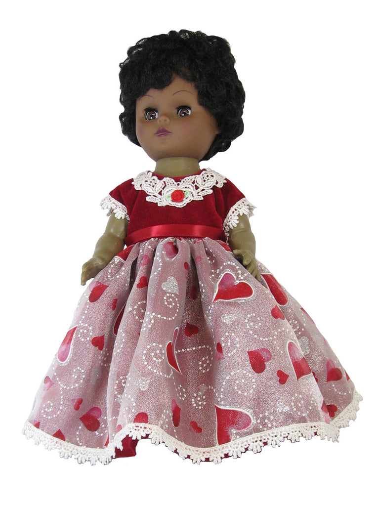 Red Heart Prom Dress for Goodfellow Dolls