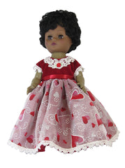 "12"" Red Hearts Prom Doll Dress"