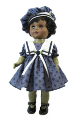 "12"" Navy Sailor Doll Dress"