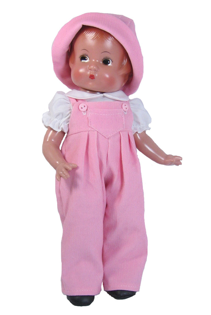 "Pink Overalls for 12"" Patsy Dolls"