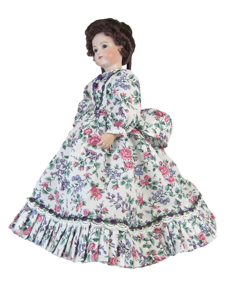 "Floral Fashion Dress for 12"" Slim Dolls"