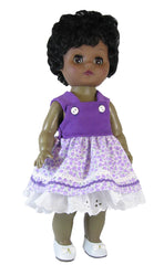 "12"" Overalls Doll Dress"