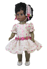 "12"" Dropped Waist Rosebud Doll Dress"