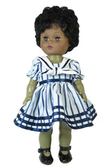 Blue Stripe Sailor Doll Dress