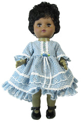 "12"" Denim 'n Checks Country Doll Dress"