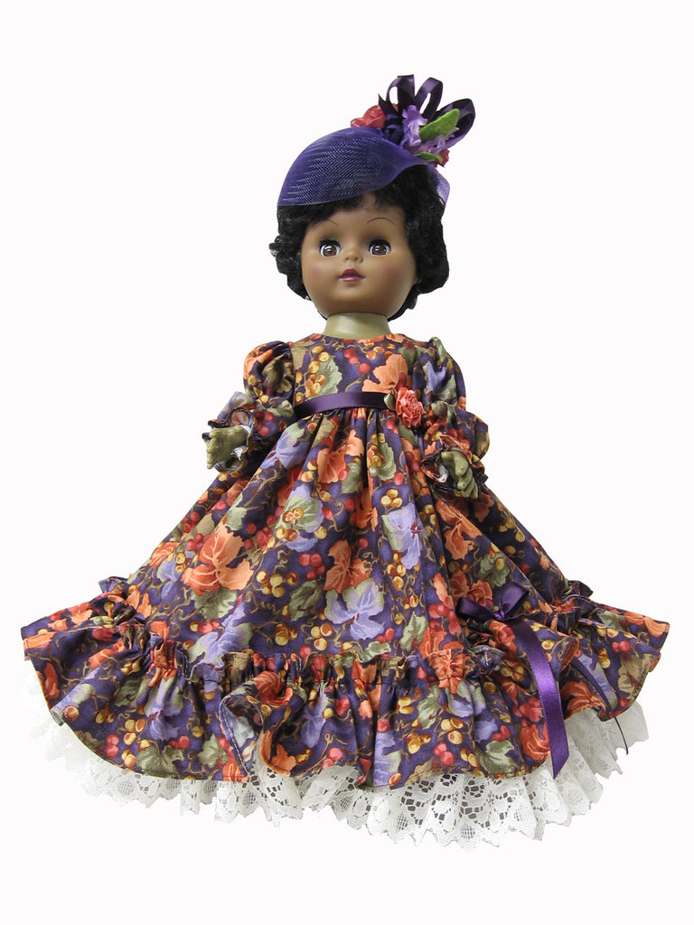 "12"" Fancy Floral Doll Formal"