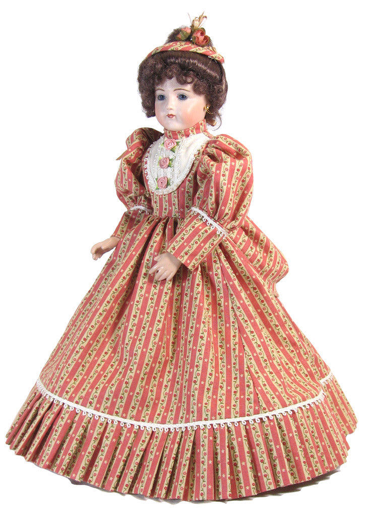 Vee S Victorians Doll Clothes 12 Quot Striped Fashion Doll Dress