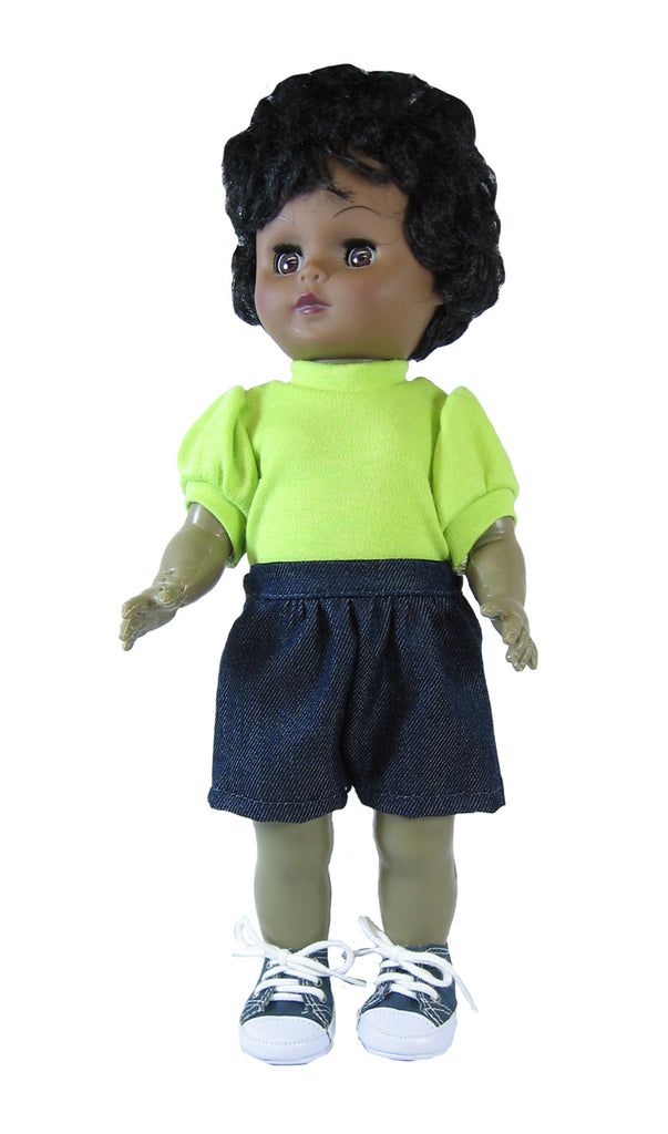 "Lime T-Shirt for 12"" Goodfellow Dolls"