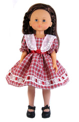 "13"" Dainty Plaid Doll Dress"