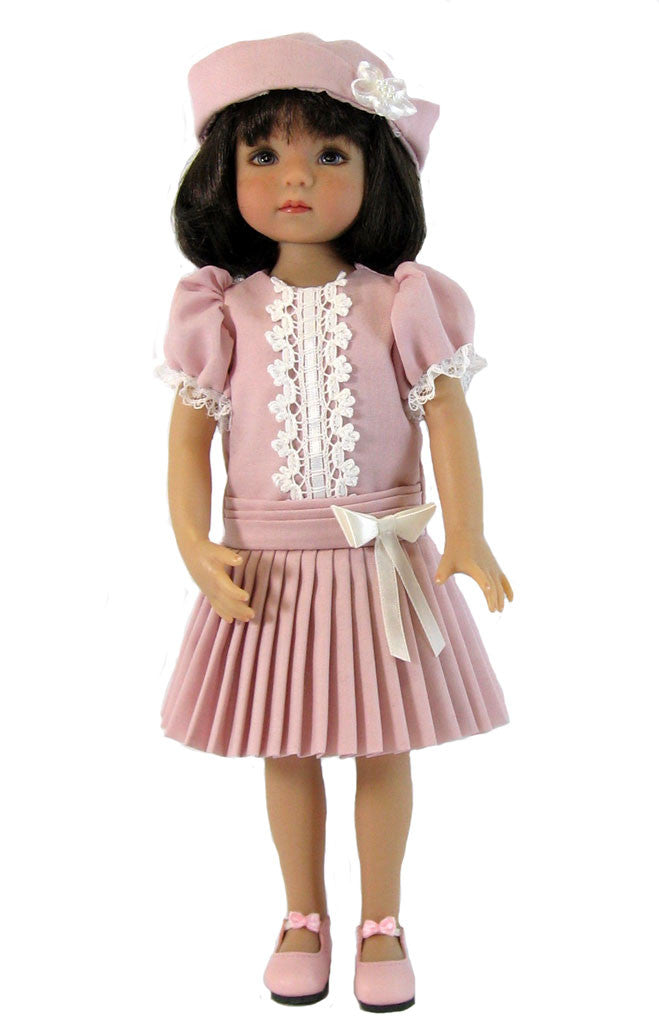 "Dropped waist dress for 13"" Little Darling Dolls"
