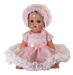 "13"" Flocked Organdy Outfit for Tiny Tears"