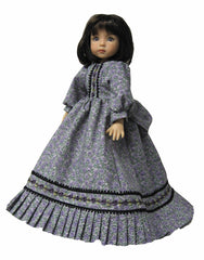 "13"" Lavender Rose Fashion Doll Dress"