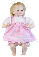 "14""-24"" Gingham Dress for Baby Dolls"