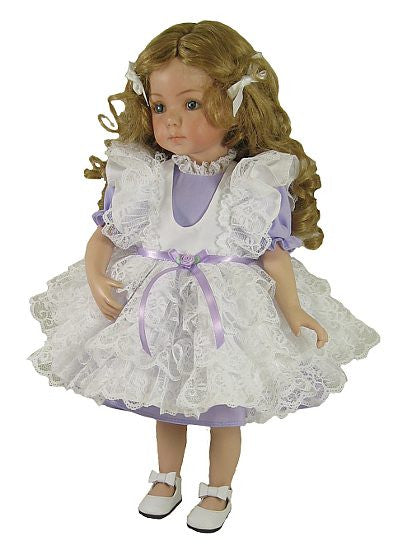 "14"" Lacy Pinafore Doll Dress"