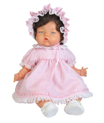 "14"" Pink Rosebraid Baby Doll Dress"