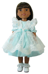 "14"" Lace Pinafore Doll Dress"