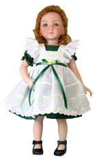 "14"" Eyelet Pinafore Doll Dress"
