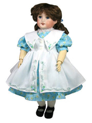 "14"" Rosette Pinafore Doll Dress"